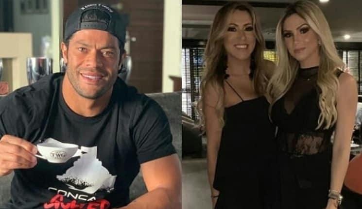 Hulk Paraíba e a ex-mulher com sua sobrinha e atual namorada dele