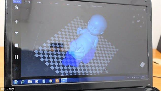Tela do programa de impressão 3D