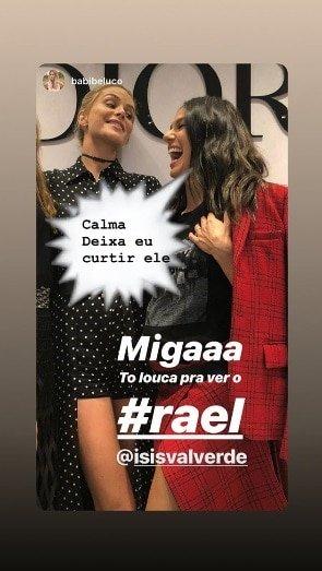 Isis Valverde responde amiga que queria visitar Rael