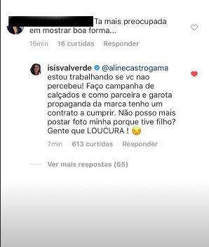 Isis Valverde respondeu assim