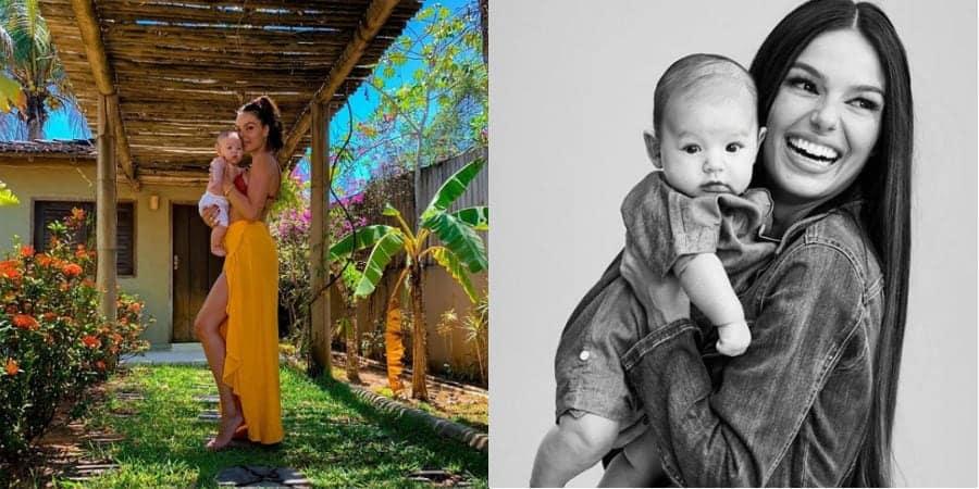 Isis Valverde compartilhou linda foto para celebrar aniversário de seu bebê