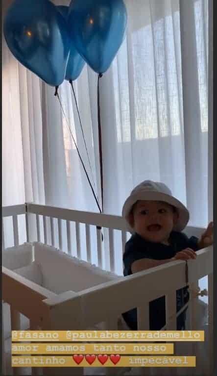 Filho de Isis Valverde em hotel de luxo