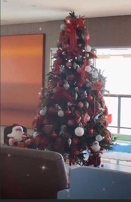 A árvore de natal da cantora Ivete Sangalo