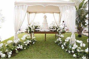 Ivete Sangalo publicou essa imagem da decoração da festa de batizado de suas filhas gêmeas, Marina e Helena
