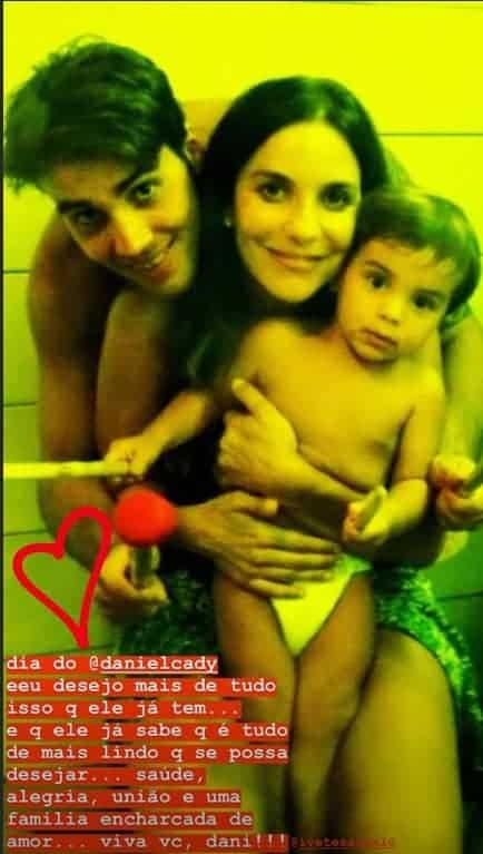 Ivete Sangalo e seu marido com o filho ainda pequeno