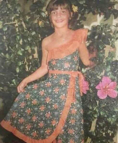 A cantora Ivete Sangalo quando era criança
