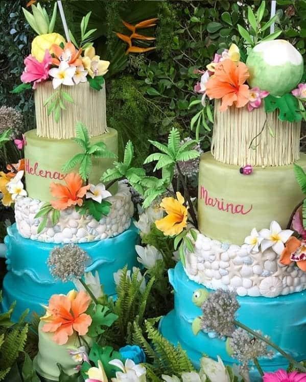 A cantora Ivete Sangalo fez uma linda festa de um ano para suas gêmeas