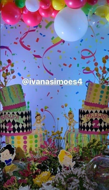 Bolos da festa das gêmeas de Ivete Sangalo com tema carnaval
