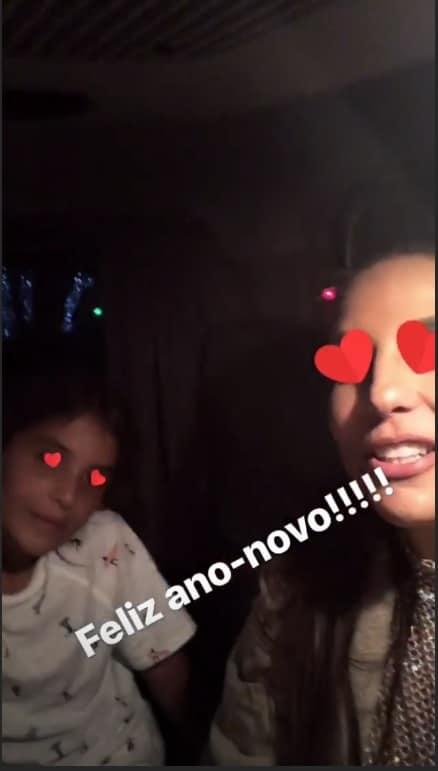 Ivete Sangalo e o filho Marcelo na passagem do ano