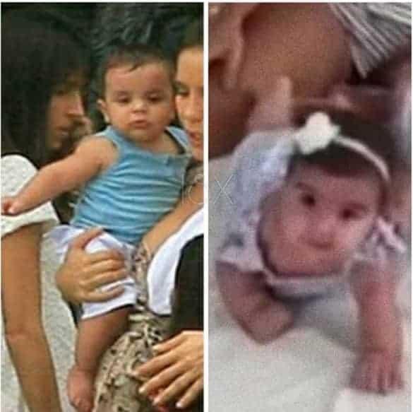 Os filhos de Veveta: Marcelo quando bebê e Marina