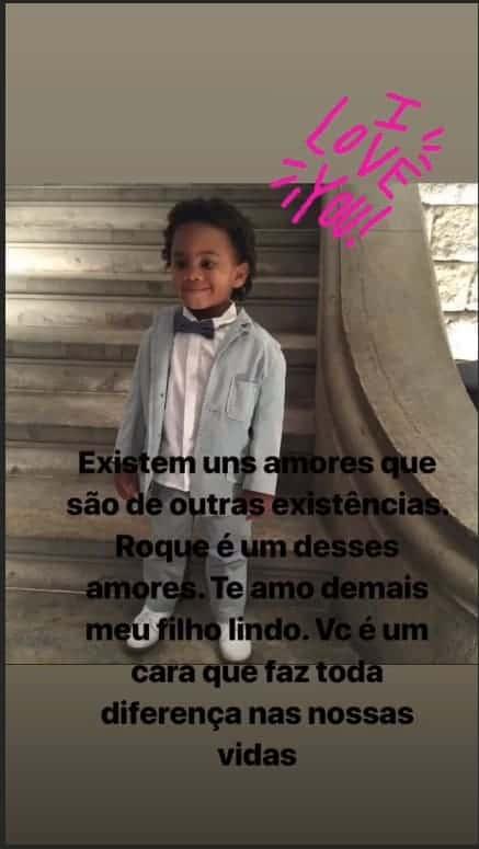 Ivete Sangalo compartilhou essa linda declaração para o pequeno Roque