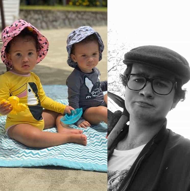 Três filhos do chef Erick Jacquin em foto compartilhada por ele