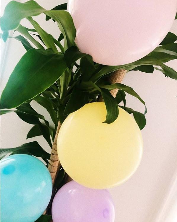 Balões que Débora Nascimento separou para a festa da filha