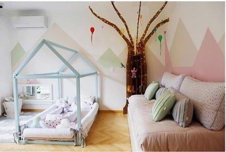 Mais uma imagem do quarto diferente de Bella filha da atriz Débora Nascimento com o ator José Loreto