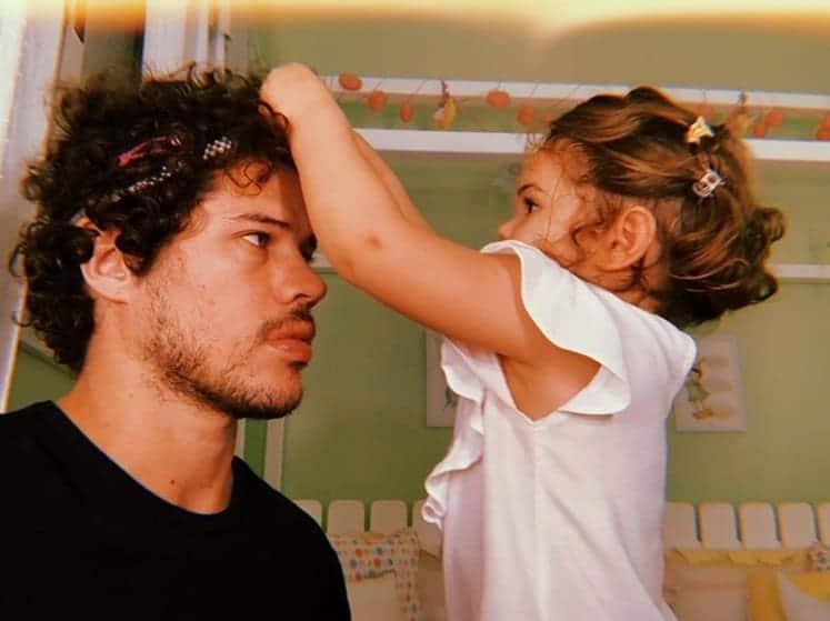 José Loreto com a filha Bella