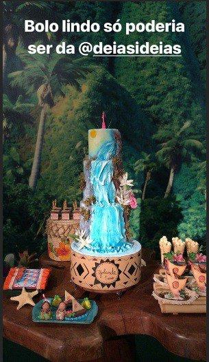 Foto do bolo da festa de um ano de Yolanda