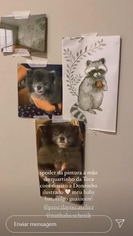 Pet inspirou quarto da bebê de Carol Dias e Kaká