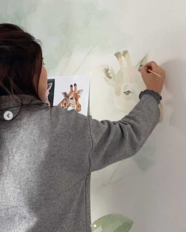 Detalhes do quarto da filha de Kaká