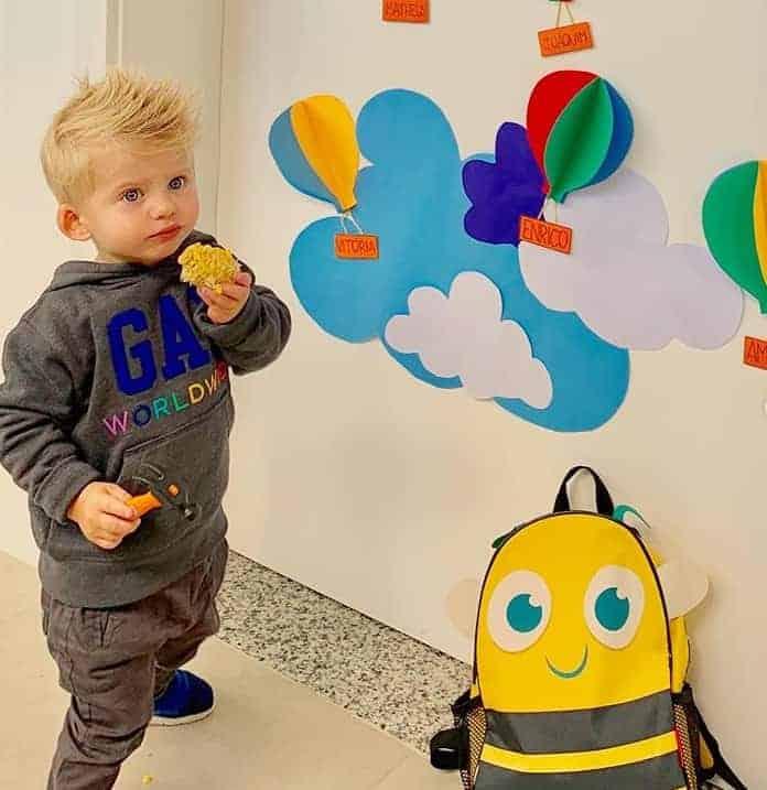 Enrico no primeiro dia de aula em foto tirada por Karina Bacchi