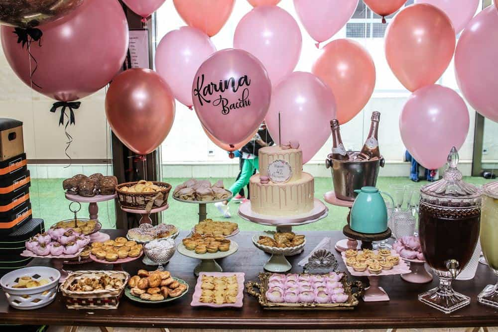 Decoração da festa de aniversário da Karina Bacchi