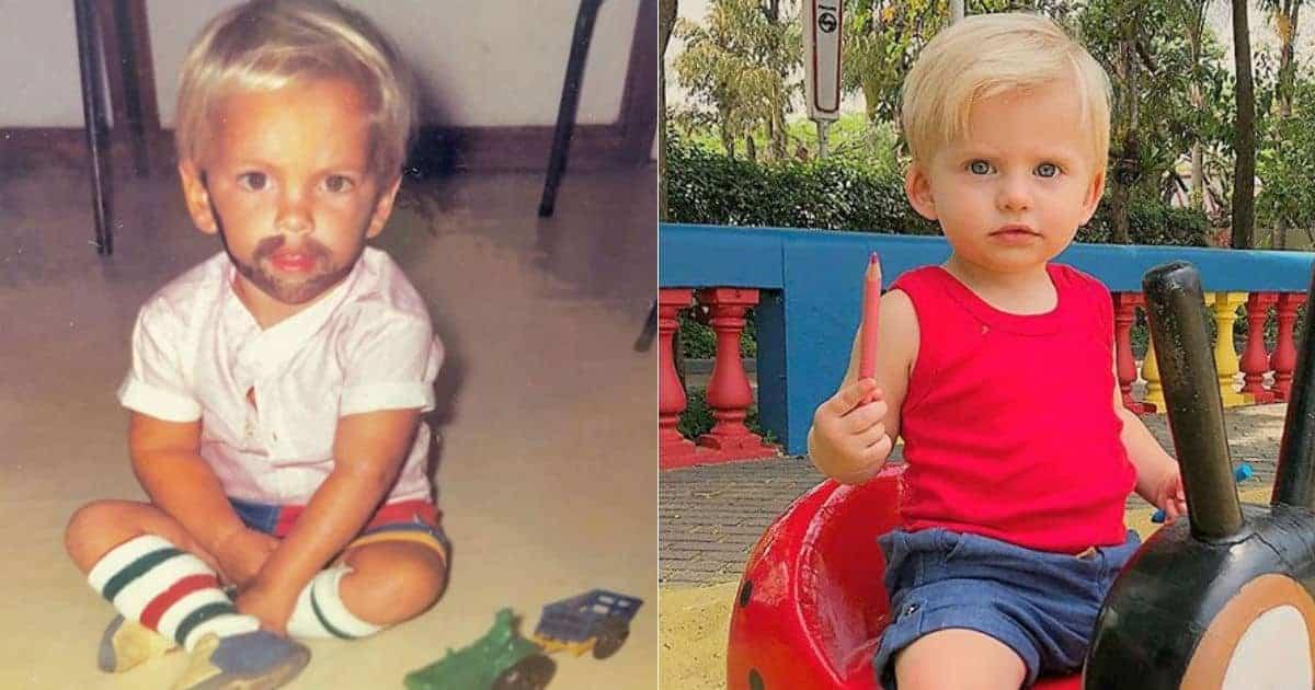 Filho de Karina Bacchi e o pai Amaury Nunes