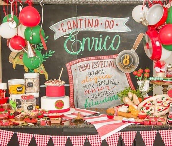 Cada detalhe da festa de Enrico Bacchi é uma foforua