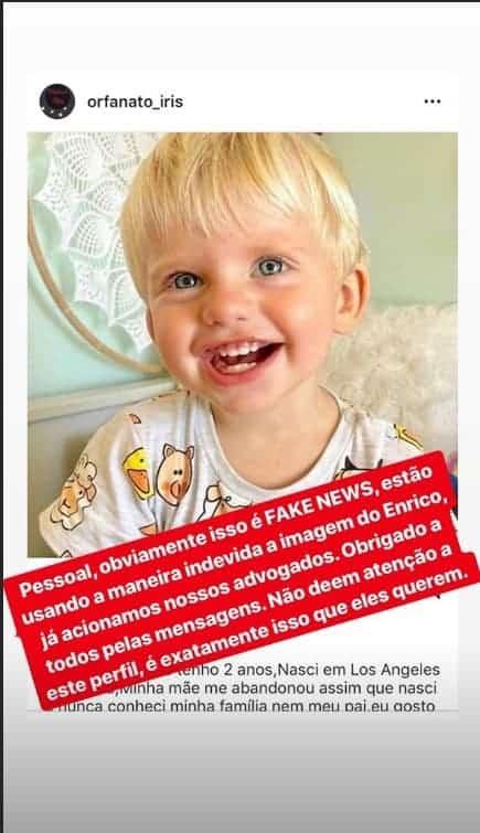 Karina Bacchi entrou na justiça por uso indevido da imagem do filho