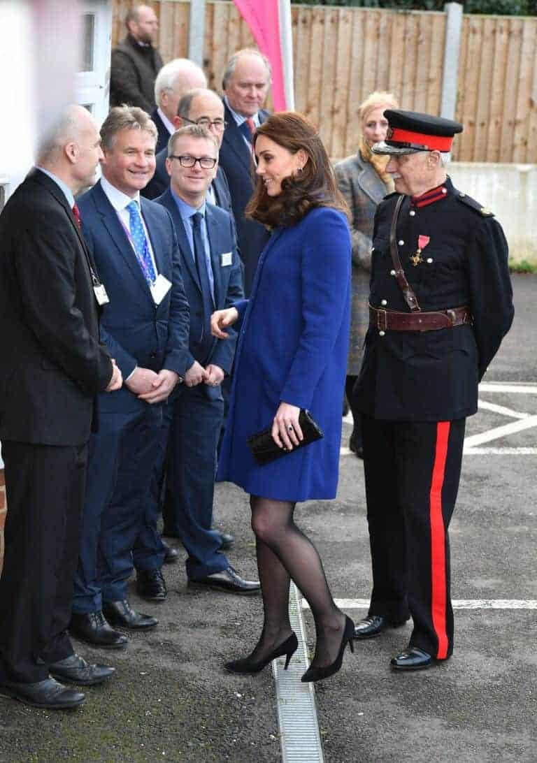 Kate Middleton em um evento na Inglaterra