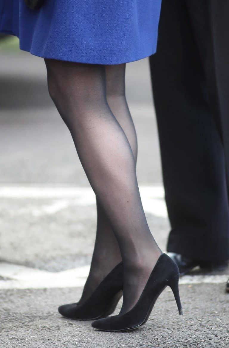 O salto de Kate Middleton ficou preso