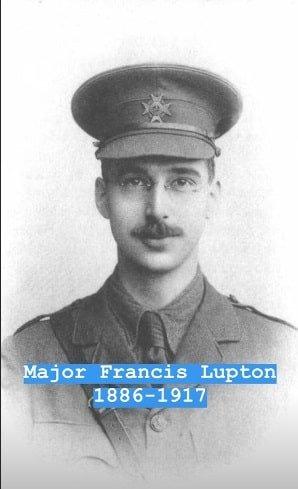 O tio bisavô de Kate Middleton, Major Francis Lupton, que morreu na Primeira Guerra Mundial