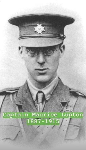 O tio bisavô da duquesa, Capitão Maurice Lupton, que morreu na Primeira Guerra Mundial