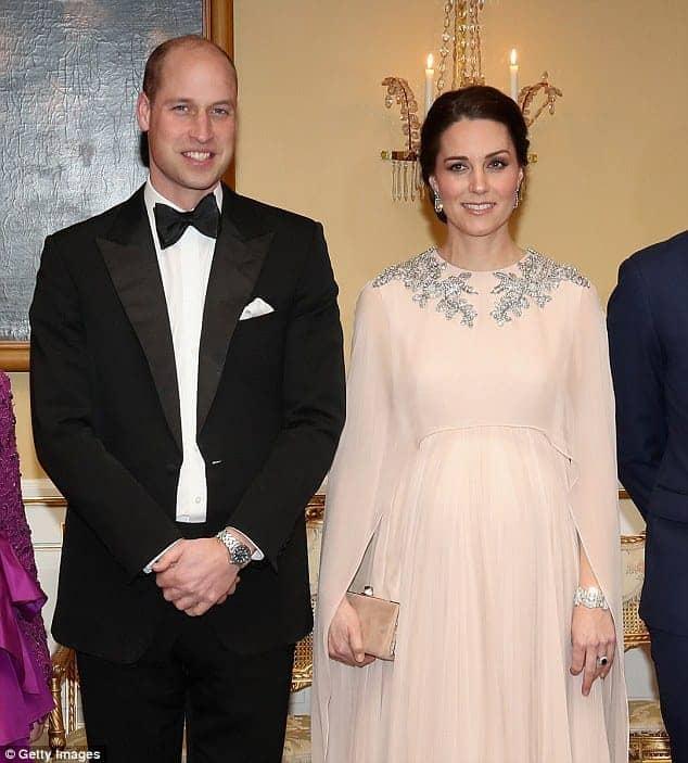 O casal Kate Middleton e Príncipe Willian durante evento na Suécia