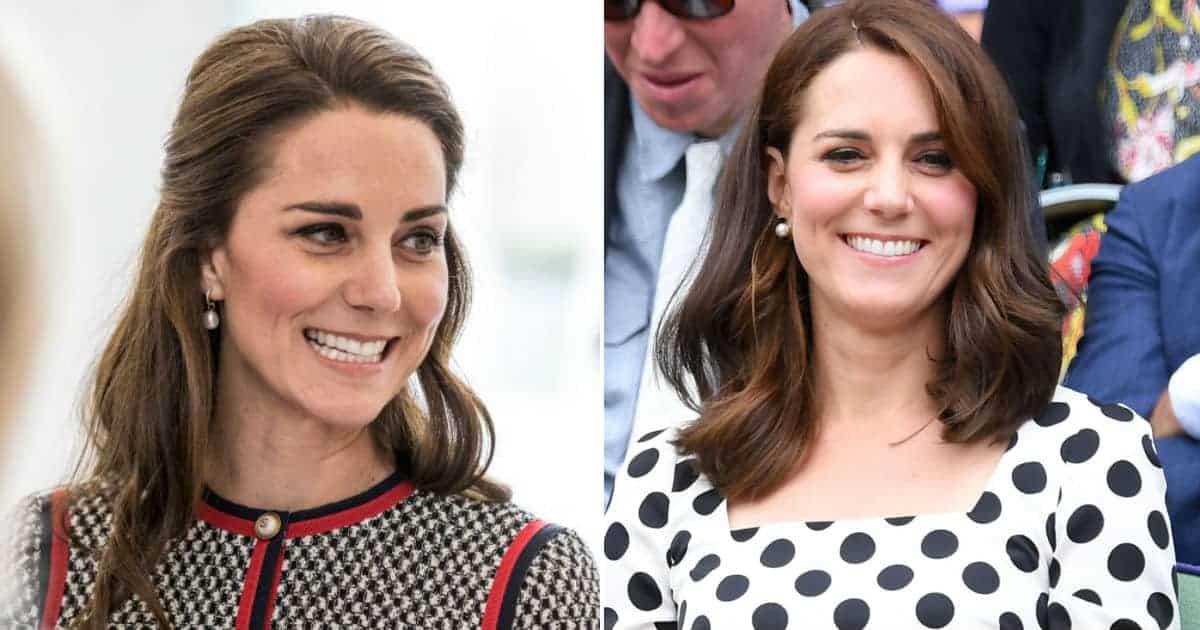 A futura mamãe Kate Middleton antes de descobrir a gestação na imagem da esquerda e após saber da gravidez na imagem da direita