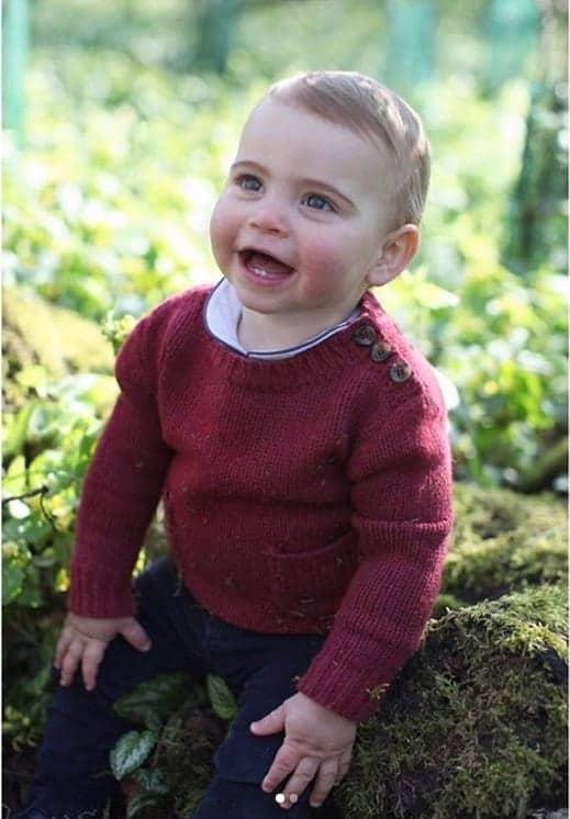 Cada dia que passa o príncipe Louis está mais fofo