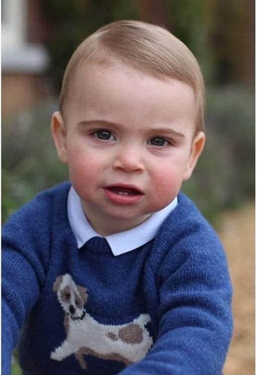 A duquesa Kate Middleton várias fotos do príncipe Louis