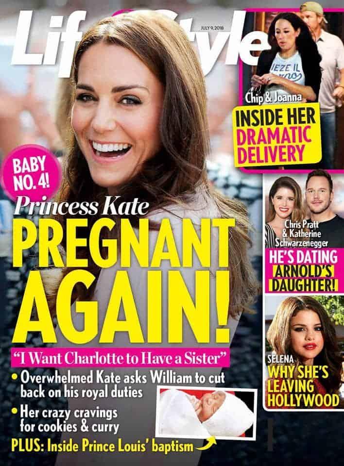 A duquesa Kate Middleton estaria grávida segunda a revista Life & Style