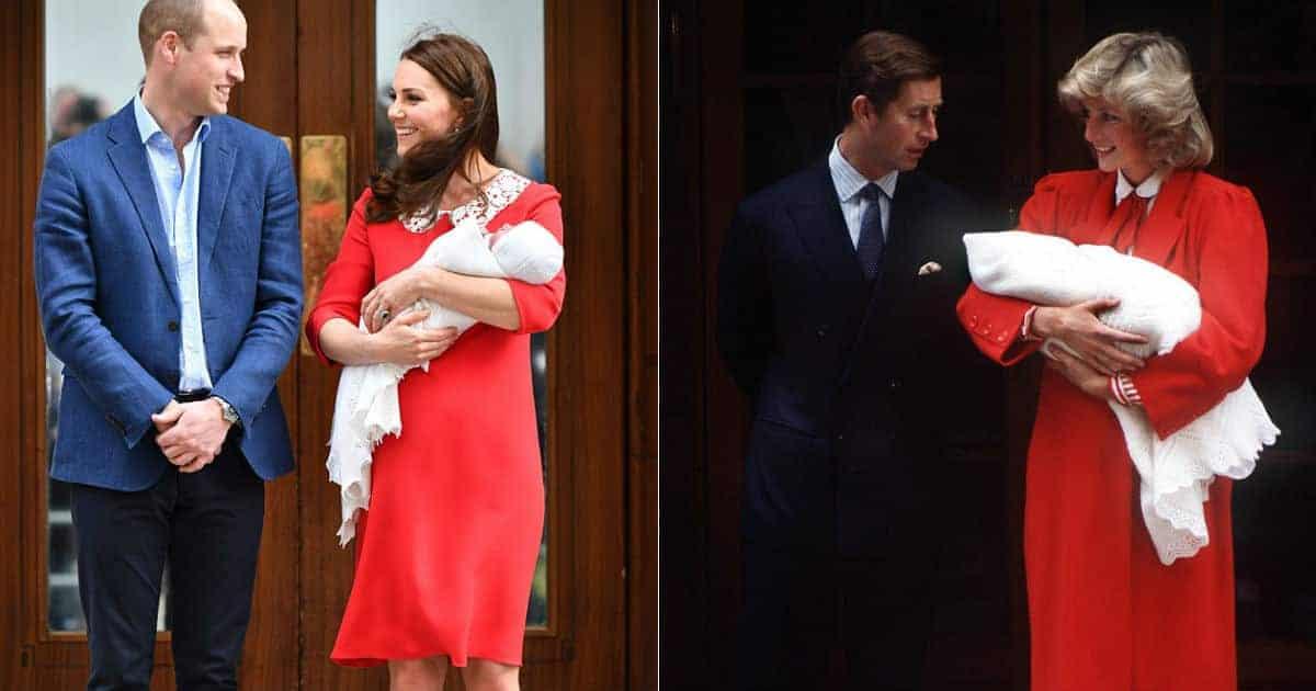 A semelhança entre os vestidos da duquesa Kate Middleton e da princesa Diana chamou a atenção de todos
