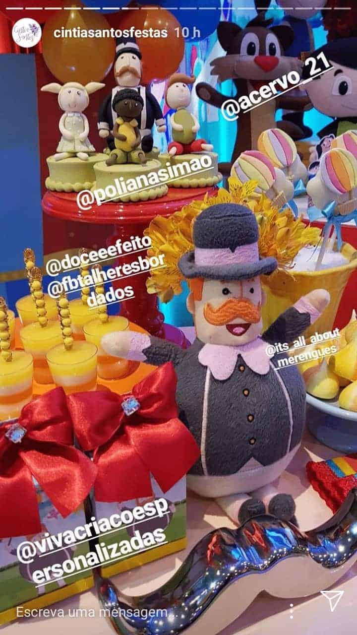 Detalhes da super festa do fofo Artur filho da cantora Kelly Key