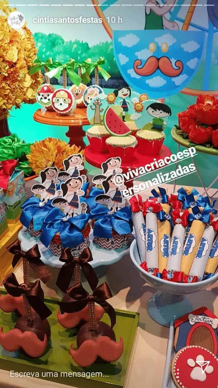 Para comemorar o aniversário do pequeno Artur uma festa repleta de lindos destalhes