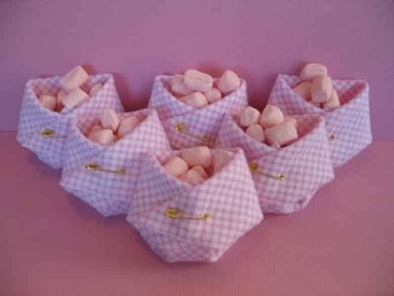 Use as lembrancinhas para decorar seu chá de fraldas