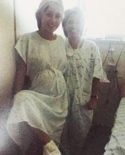 Letícia Santiago tirou essa foto momentos antes de ter sua primeira filha