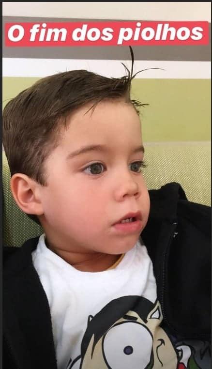 Luana Piovani cortou o cabelo de seu filho Bem