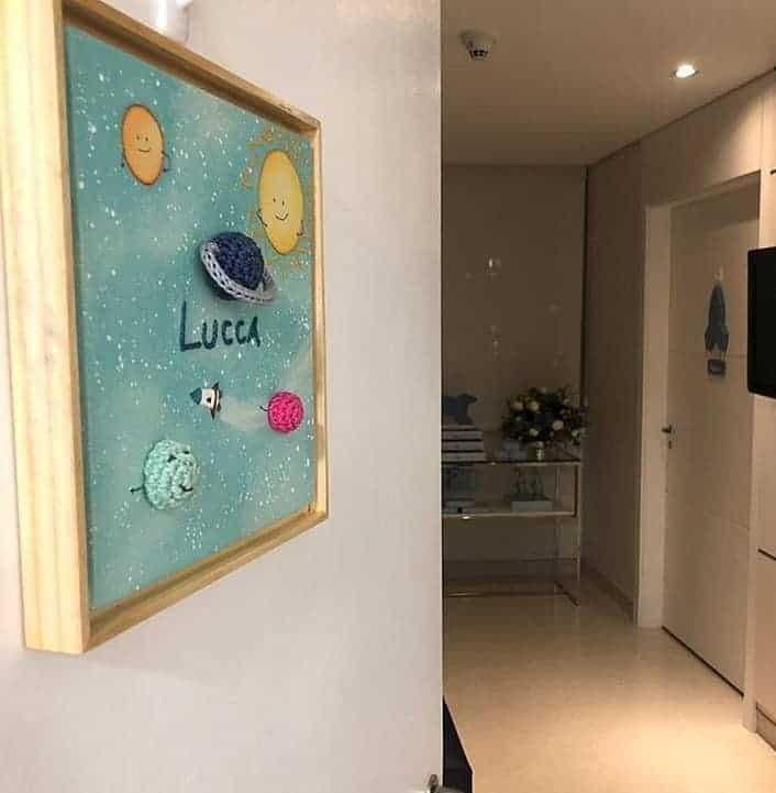 Decoração do quarto de maternidade de Luiza Possi
