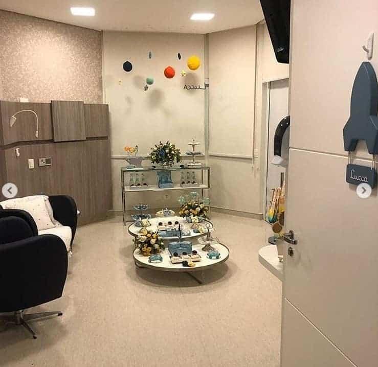A decoração do quarto de maternidade de Luiza Possi