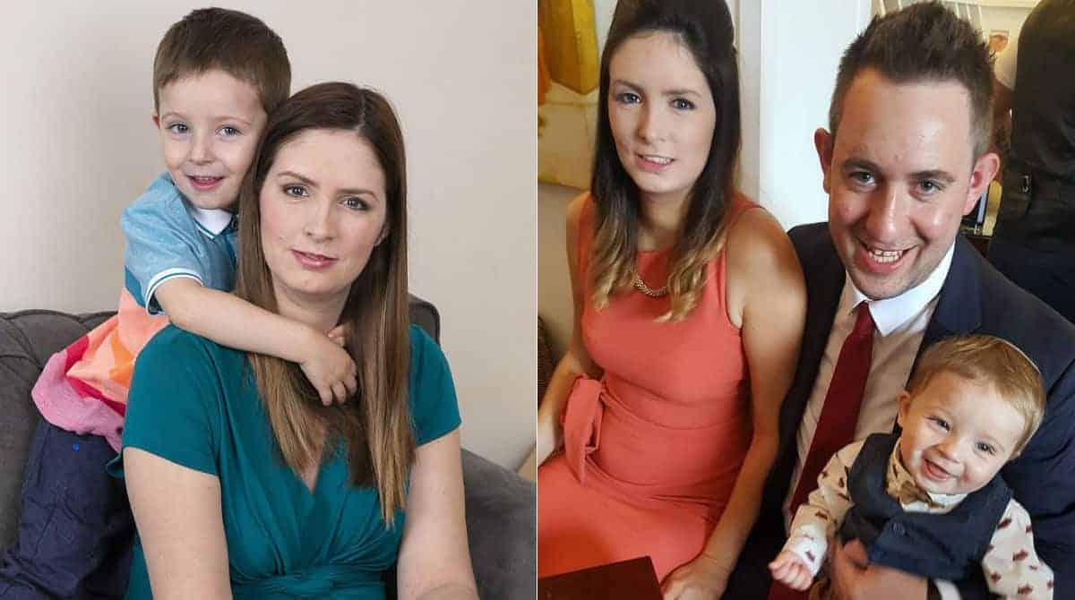 Esta mãe devolveu seus bebês adotivos quando engravidou do filho biológico, que aparece nas fotos