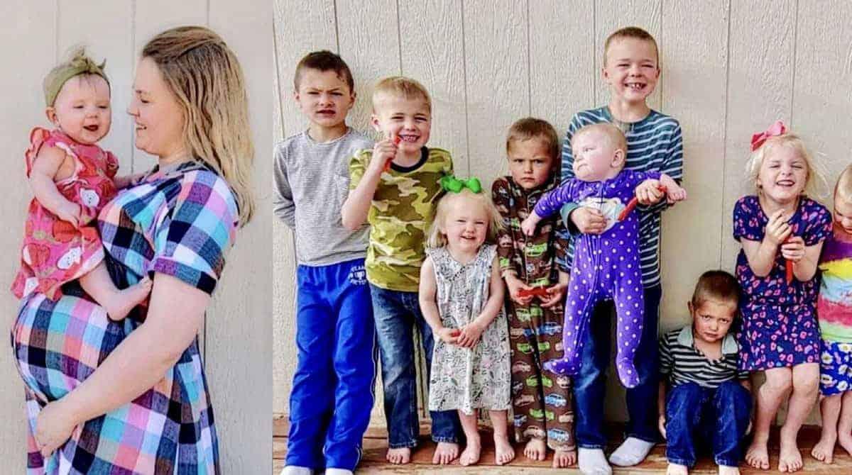 Mãe tem dez filhos menores de dez anos e queria mais