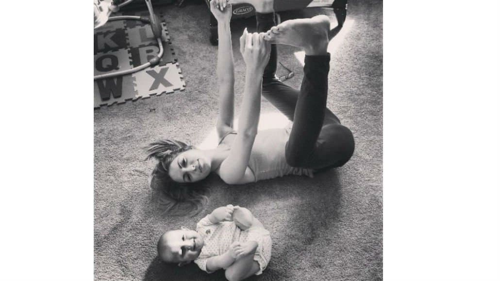Estripulias de mãe e bebê