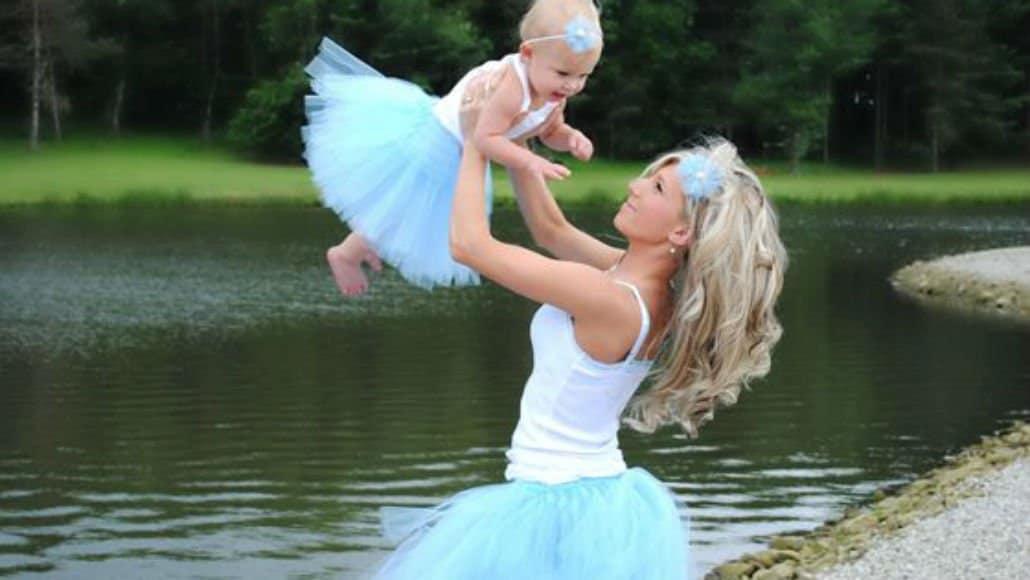 Mãe e bebê bailarinas