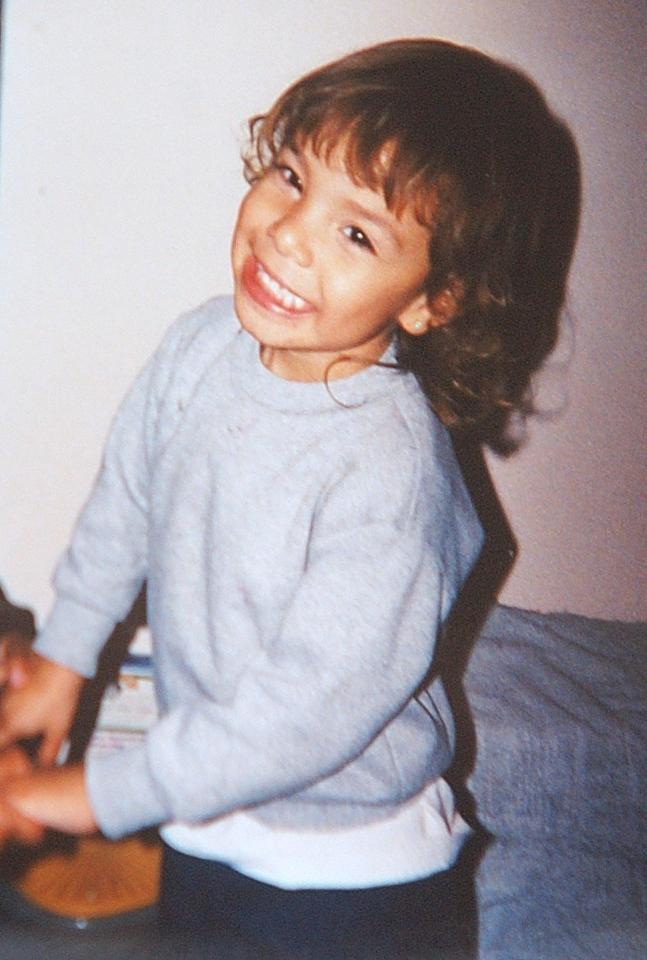 Foto de Delimar Vera no tempo de criança