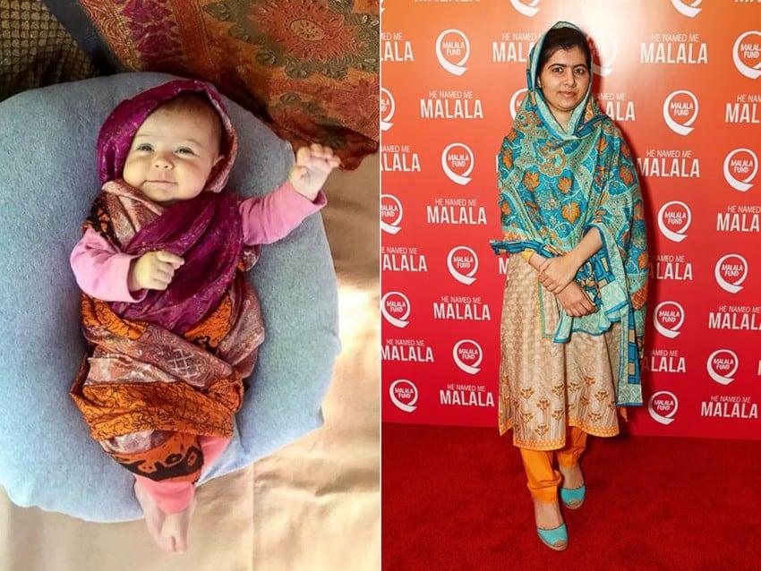 A mãe e a bebê fizeram uma linda homenagem a todas as mulheres